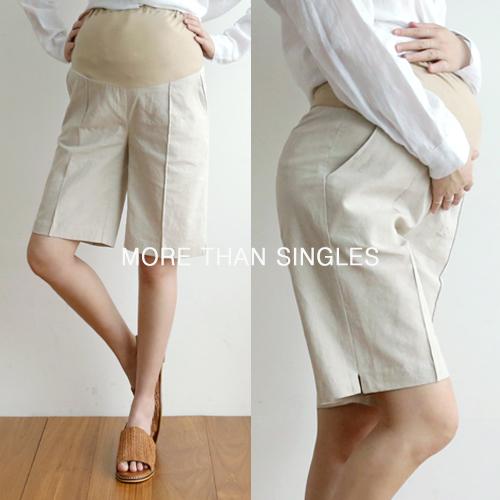 280days-[브랜디린넨반바지/임부복]임부복 2 8 0 DAYS - 느낌있는 임부복쇼핑몰♡韓國孕婦裝褲子