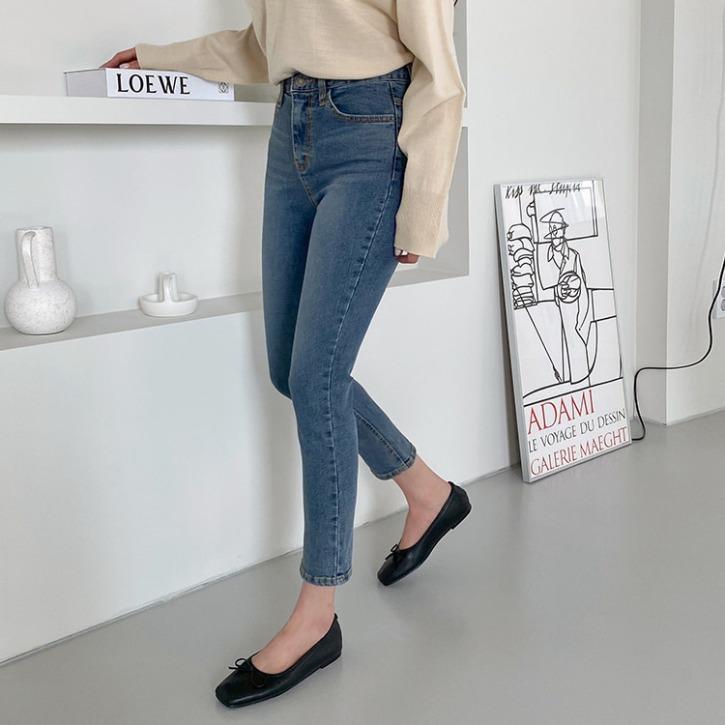 QNIGIRLS-데이퍼 슬림일자데님팬츠♡韓國女裝褲