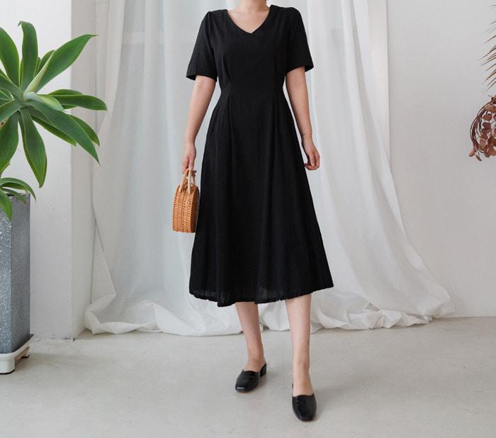 anndaly-쿠니 -  린넨 원피스 (2color)♡韓國女裝連身裙