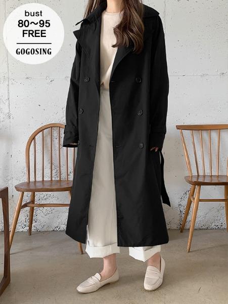 ggsing-[19일9시까지9%할인]로우싱글 트렌치코트 (나그랑,스트랩,무료배송)♡韓國女裝外套