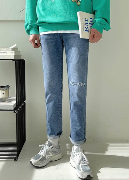 jogunshop-[글로브 히든밴딩 데님진S~XL(28~34)]♡韓國男裝褲子