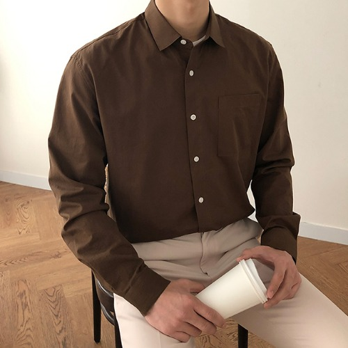 modernsweet-포시즌 데일리 워싱 코튼 셔츠 - 모던스윗(modernsweet)♡韓國男裝上衣