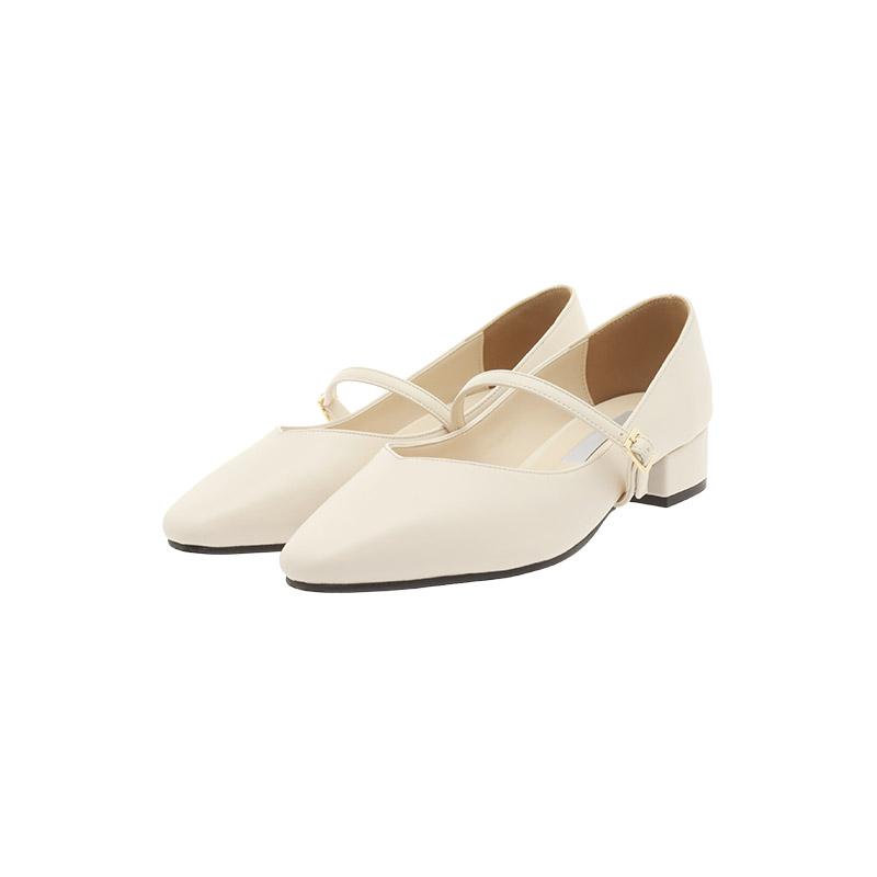 attrangs-sh2238 튤립같은 앞코라인의 메리제인 플랫 힐 shoes♡韓國女裝鞋