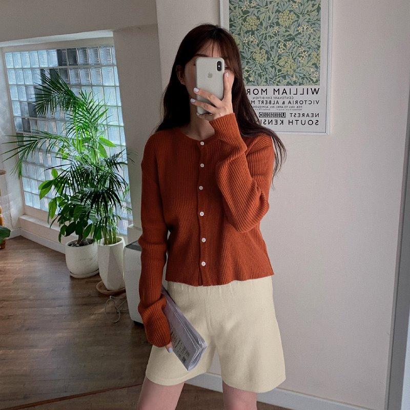 laurenhi-슬러 비스코스 3부 숏 니트 팬츠 - 5 color♡韓國女裝褲