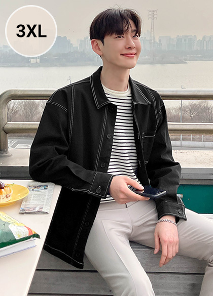 jogunshop-[코웰 스티치 코튼 자켓XL~3XL(100~120)]♡韓國男裝外套