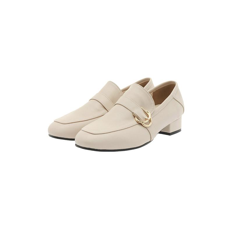 attrangs-sh2239 유행을 타지 않는 세미스퀘어토 골드 버클 장식의 로우굽 로퍼 shoes♡韓國女裝鞋
