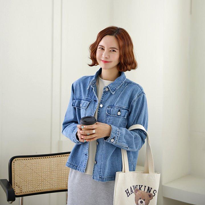 lemite-언발셔츠 데님자켓♡韓國女裝外套