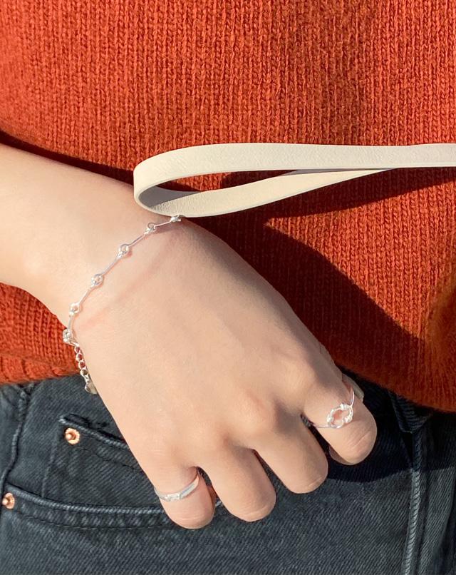dreseoul-[B77] silver chain bracelet - DRE♡韓國女裝飾品