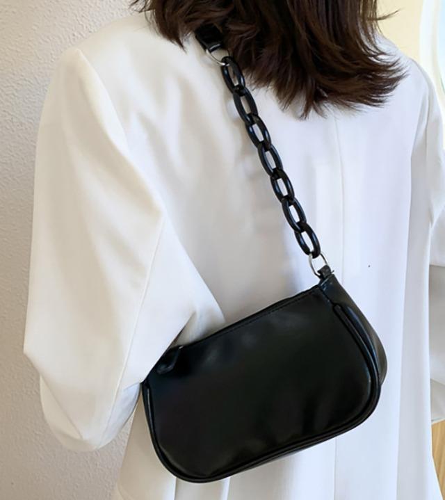 uniqueon-클립 미니멀 숄더백 가방 [Z0710]♡韓國女裝袋