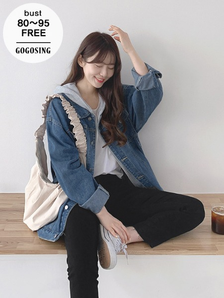 ggsing-테일즈 루즈데님JK(후드탈부착,청자켓,무료배송)♡韓國女裝外套