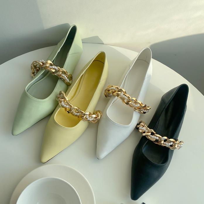 dabagirl-골드체인플랫슈즈(M170)♡韓國女裝鞋