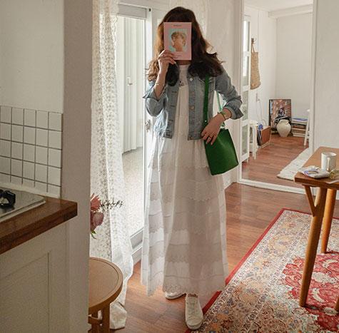 leelin-[네스티 부드러운스판 연청 청쟈켓[size:S,M,L]]♡韓國女裝外套