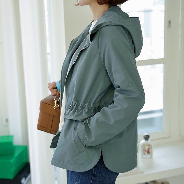 lemite-페리후드 야상자켓♡韓國女裝外套