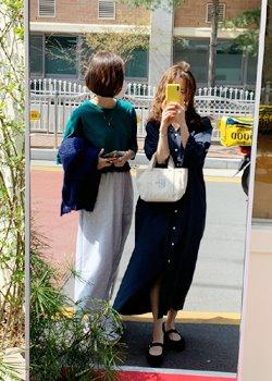ifgirl-폴린 코튼 원피스 (3color)♡韓國女裝連身裙