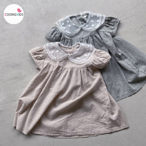 cooingkids-N썸머레이스카라원피스♡韓國童裝連身裙