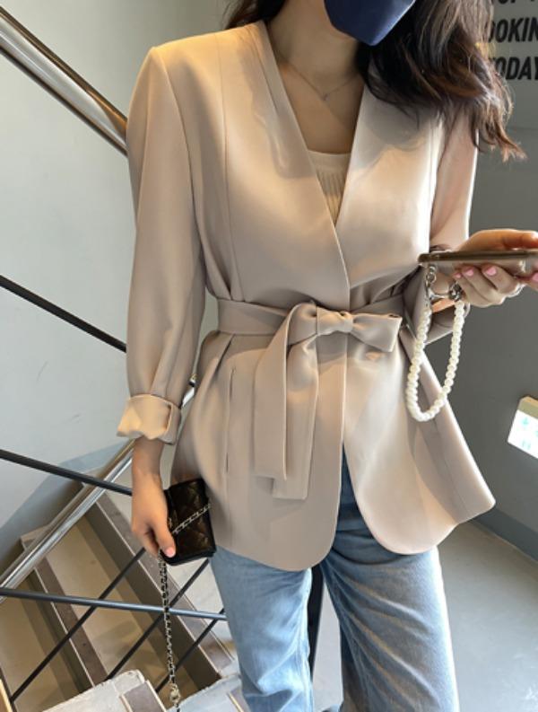 ssumj-클로이 노카라 자켓(3col)♡韓國女裝外套