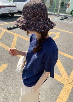 ifgirl-나이스 자수 티 (5color)♡韓國女裝上衣