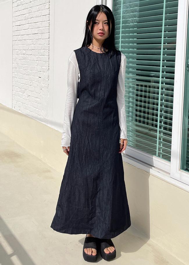 darkvictory-백오픈스트랩 데님원피스[+영상]♡韓國女裝連身裙