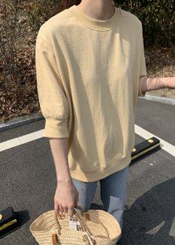 ifgirl-치즈 반팔 맨투맨 (3color)♡韓國女裝上衣