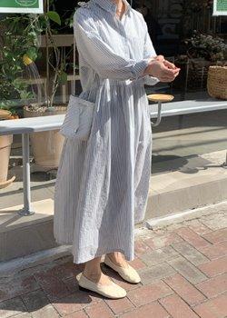 ifgirl-로렌 스트라이프 원피스 (3color)♡韓國女裝連身裙