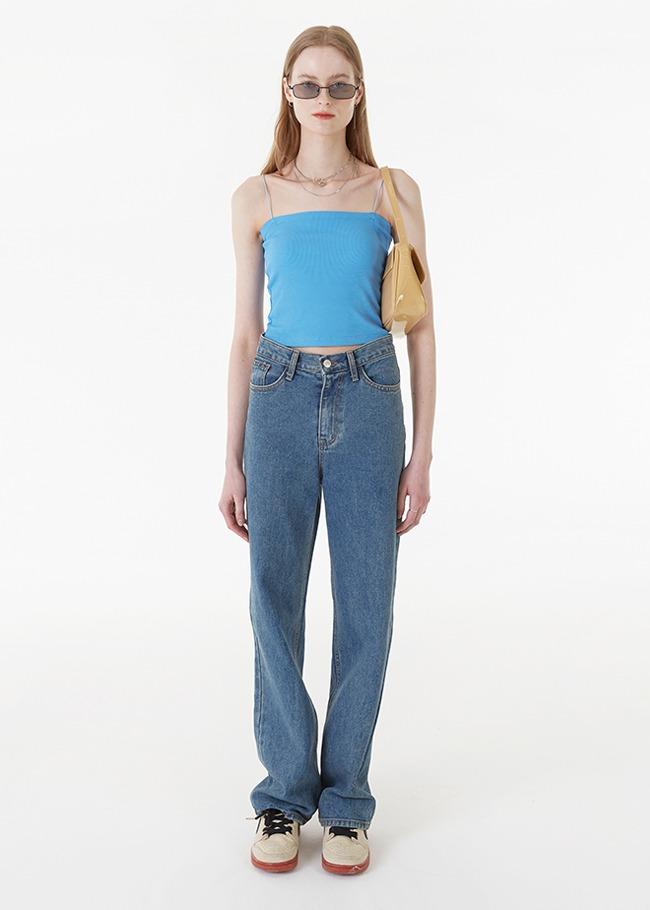 darkvictory-WI211 로드와이드진 중청[부분당일발송]♡韓國女裝褲