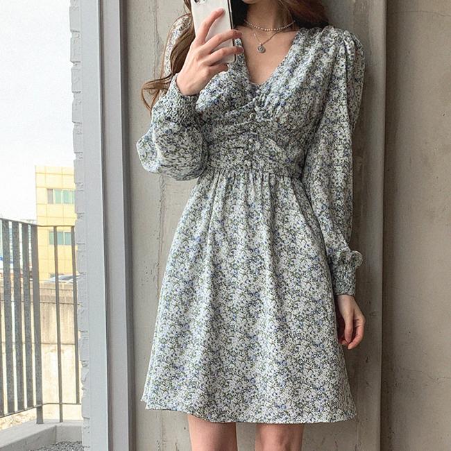 cherryville-[플라워로시작해 미니원피스]♡韓國女裝連身裙