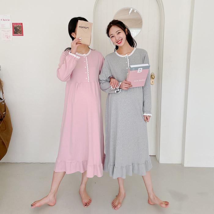momnuri-임부복*레이스설렘 수유원피스 ♡韓國孕婦哺乳服