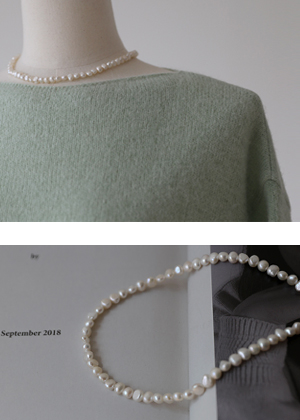 annanblue-[단아한 pearl necklace(4일 PM5 5% 마감)]♡韓國女裝飾品