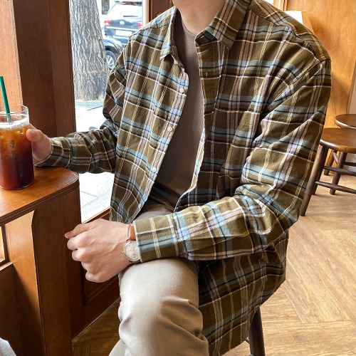 modernsweet-리틀 체크 남방 - 모던스윗(modernsweet)♡韓國男裝上衣