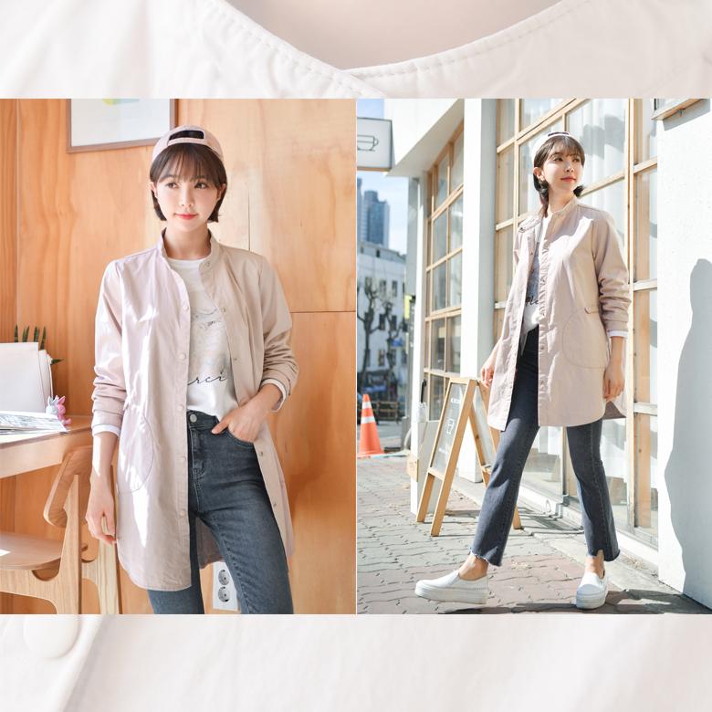 midasb-[지나 하이넥 야상점퍼]♡韓國女裝外套
