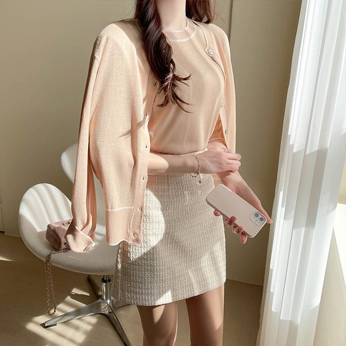 myfiona-플로이 니트 가디건 세트 a1298 - 러블리 로맨틱룩 1위 쇼핑몰 피오나♡韓國女裝上衣套裝