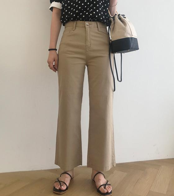 onlymoon-[원트, 린넨 8부 부츠컷 팬츠/3color [키작녀 팬츠]]♡韓國女裝褲