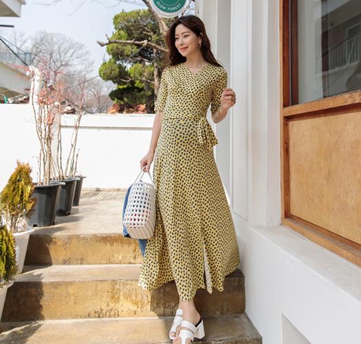 soim-[임부복*플럼여신랩 임산부원피스(수유가능)]♡韓國孕婦裝連身裙