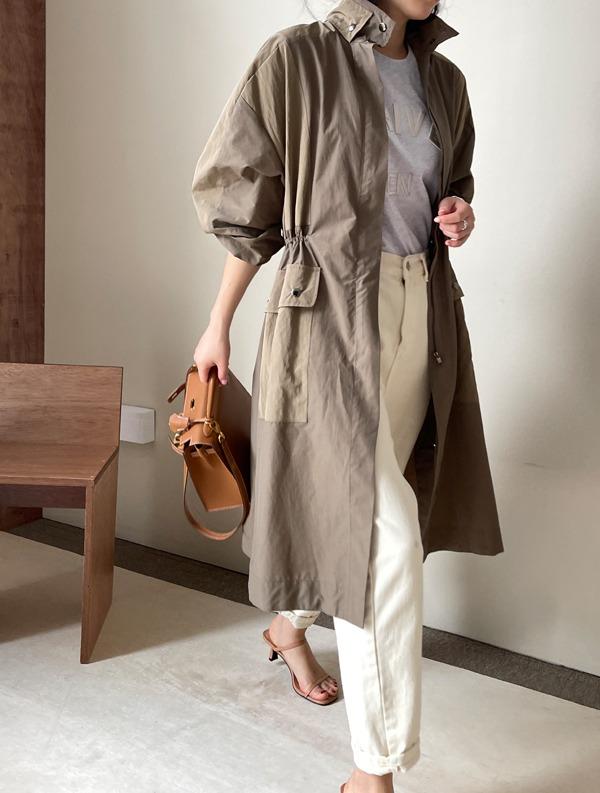 ssumj-밀러 셔링 바람막이자켓(2col)♡韓國女裝外套