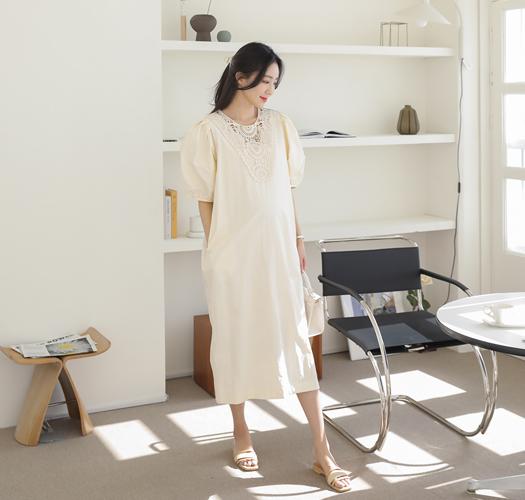 soim-[임부복*제니레이스 임산부원피스]♡韓國孕婦裝連身裙