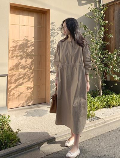 ssumj-모비아스트링 롱 원피스(2col)♡韓國女裝連身裙