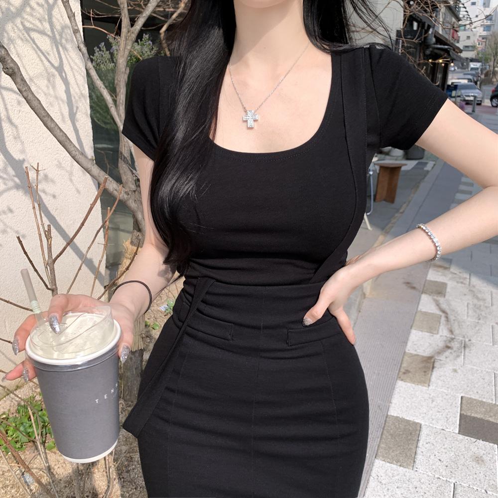 uinme-핫핫 스퀘어 티 - [ 4color ] - 유인미핫핫 스퀘어 티 - [ 4color ] - 유인미♡韓國女裝上衣