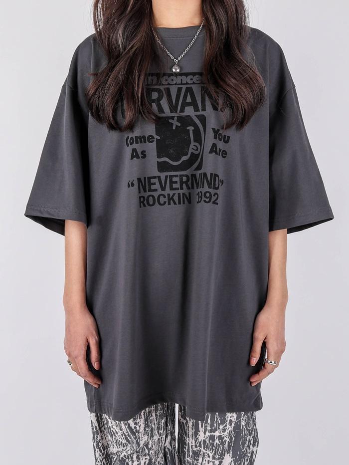 justyoung-AC Nirvana Inn Concert Short Sleeve Tee (2color)♡韓國男裝上衣