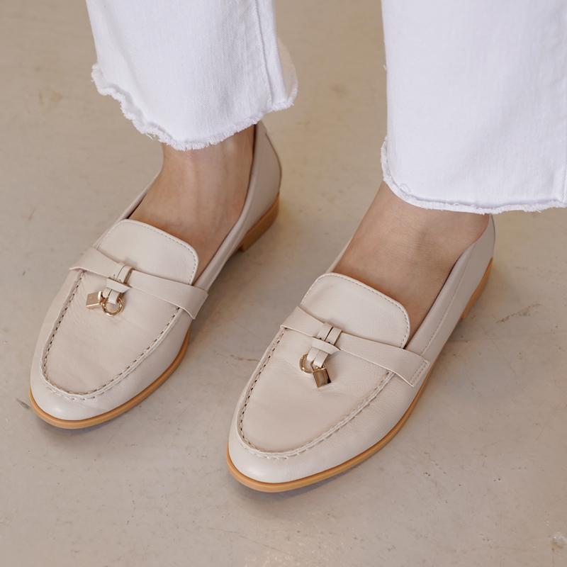 clicknfunny-[델젠나 자물쇠로퍼]♡韓國女裝鞋