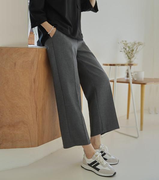roompacker-룸페커 [터크 레이온스판 뒷밴딩 슬랙스]♡韓國女裝褲