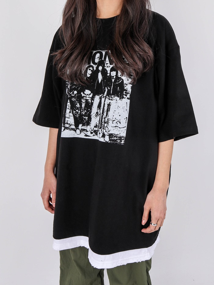 justyoung-AC Ramones Band Short Sleeve Tee (2color)♡韓國男裝上衣