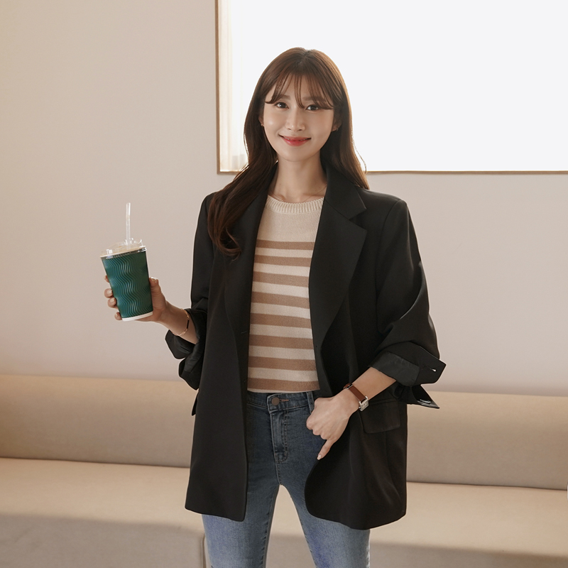 clicknfunny-[런베일 쓰리버튼자켓]♡韓國女裝外套