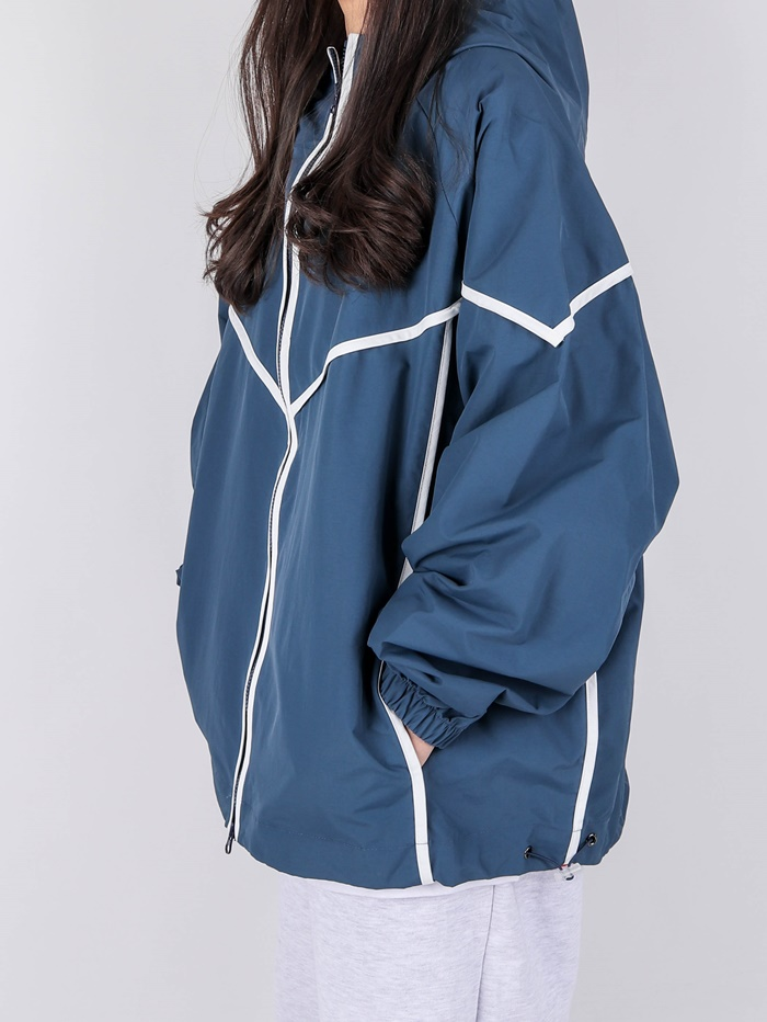 justyoung-NU Taping Windbreaker (2color)♡韓國男裝外套
