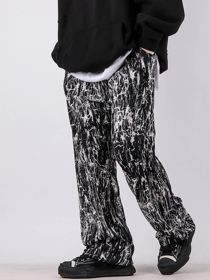 justyoung-GE Lightning Silk Pants (2color)♡韓國男裝褲子