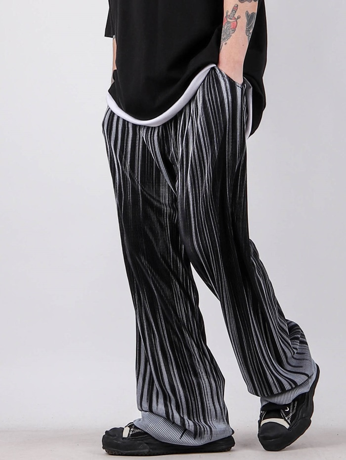 justyoung-GE Snow Flower Pleated Pants (2color)♡韓國男裝褲子