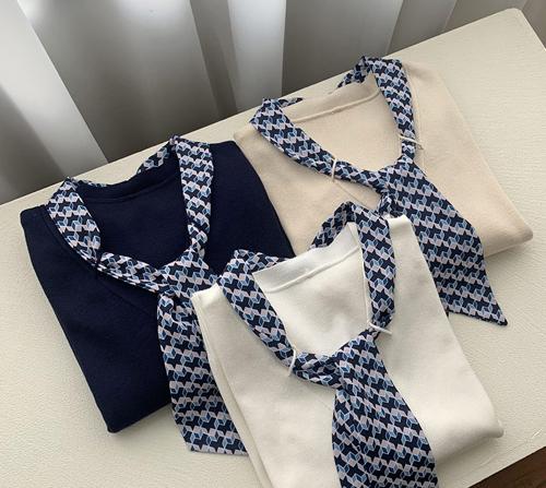 beige blanc-로엔 스카프 세트 니트 가디건]♡韓國女裝上衣