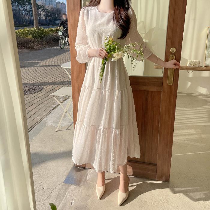 myfiona-달린 도트 캉캉 쉬폰원피스 a1303 - 러블리 로맨틱룩 1위 쇼핑몰 피오나♡韓國女裝連身裙
