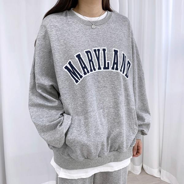 bullang-[데일리룩] 메리랜드 포켓 맨투맨♡韓國女裝上衣