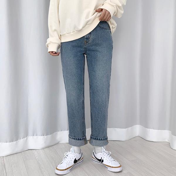 bullang-[핏예뻐요] 와즈 데님 일자 팬츠♡韓國女裝褲