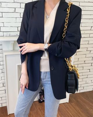 cocostory-[베이직 싱글 프렌치 자켓~내추럴 룩의 끝판왕~!!]♡韓國女裝外套